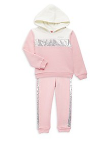 Juicy Couture Little Girl's 2-Piece Sequin Cotton-