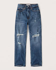 Curve Love Ultra High Rise Ankle Straight Jeans, D