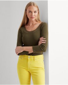Ralph Lauren Cotton Elbow-Sleeve Top