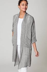 Pure Jill Airy Linen Duster