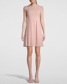 PETITE KNIT FIT-AND-FLARE DRESS