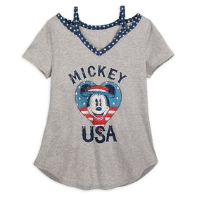 Disney Mickey Mouse ''USA'' T-Shirt for Women