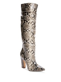 Marz Slouchy Faux-Snakeskin Boots