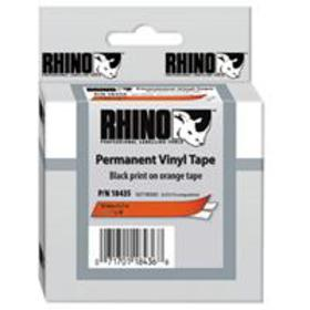 Dymo Rhino 1/2 inch Adhesive Tape, 18 ft Long, Ora