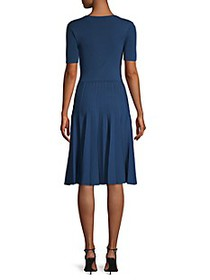Jason Wu Collection Short-Sleeve Knit Pleated Dres