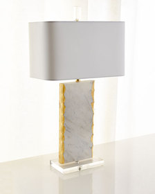 Couture Lamps White Marble Table Lamp