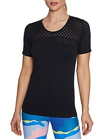 Betsey Johnson Performance Knit Mesh Top