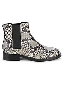 Ash Snake-Print Leather Chelsea Boots