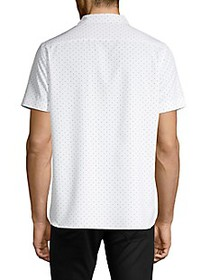 Perry Ellis Slim-Fit Stretch Dot-Print Shirt