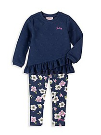 Juicy Couture Little Girl's Heart Print Tunic & Fl