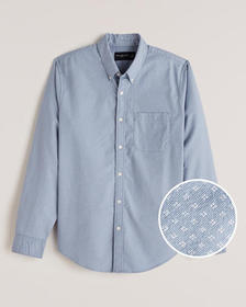 Pattern Oxford Shirt, LIGHT BLUE MICRO PATTERN