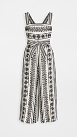 alice + olivia Lucie Gaucho Jumpsuit with Belt