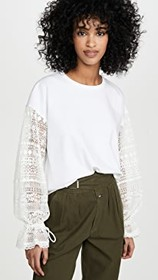 See by Chloe Tee with Lace Sleeve Detail