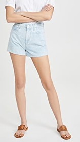 7 For All Mankind High Waist Shorts with Cutoff He
