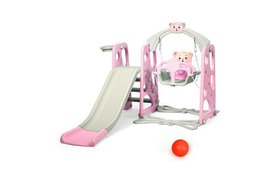 Costway 3 in 1 Toddler Climber and Swing Set Slide