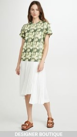 3.1 Phillip Lim Daisy Printed Pleated T Shirt Dres
