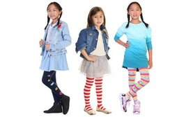 Angelina Girls' Sweater Tights (6-Pack)