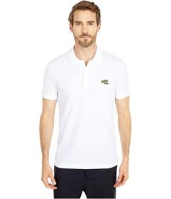 Lacoste Short Sleeve Solid Polo Embroidered Animat