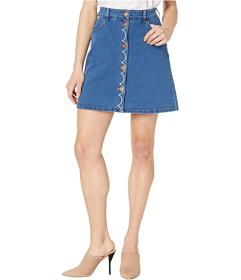 See by Chloe Washed Denim Skirt