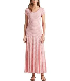 LAUREN Ralph Lauren Striped Cotton-Blend Maxi Dres