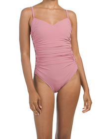Reveal Designer Cup Sized Moto One-piece Swimsuit