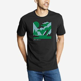 Men's Graphic T-Shirt - Abstract Scene
