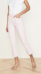 7 For All Mankind High Waist Cropped Straight Jean