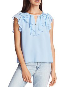 1.STATE - Ruffled Keyhole Top