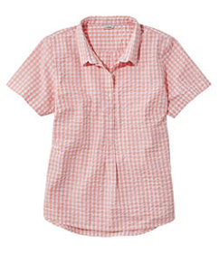 LL Bean Women's Vacationland Seersucker Shirt, Sho