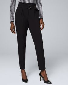 High-Waist Tapered Ankle Pants