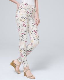 Sculpt High-Rise Floral Skinny Ankle Jeans