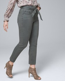 Curvy-Fit High-Rise Slim Crop Jeans with Removable