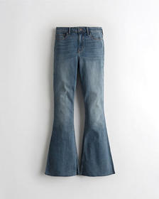 Hollister High-Rise Flare Jeans, MEDIUM