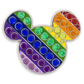 Disney Mickey Mouse Rainbow Icon Pin
