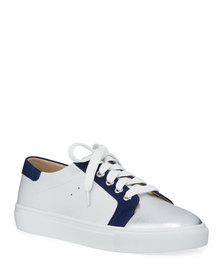 Neiman Marcus Layla Mixed Leather & Suede Low-Top