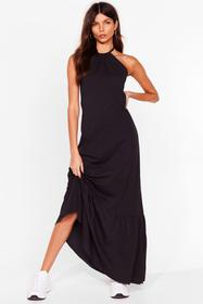 Nasty Gal Black Ain't No Halter Back Girl Relaxed