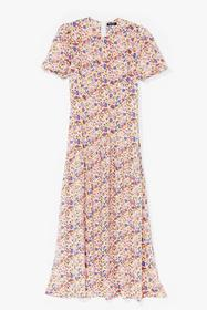 Nasty Gal Cream Drop By Sometime Floral Maxi Dress