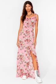Nasty Gal Rose The Frill of It All Floral Maxi Dre