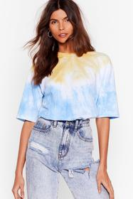 Nasty Gal Blue See Eye to Tie Dye Relaxed Tee