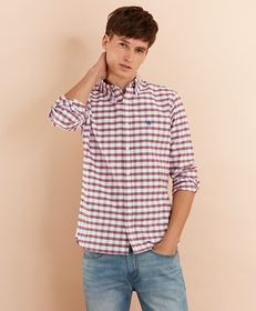 Brooks Brothers Checked Cotton Oxford Sport Shirt