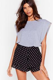 Nasty Gal Black Spot On Your Heels Tiered Shorts