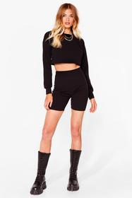Nasty Gal Black Sweat It Right Sweatshirt and Bike