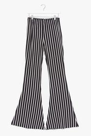 Nasty Gal Black Actin' All Monochromatic Stripe Fl