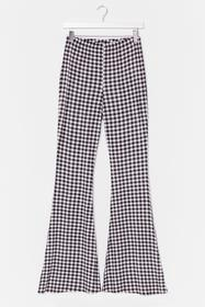 Nasty Gal Black Not a Flare in the World Gingham P