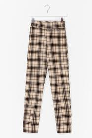 Nasty Gal Stone Check This Out High-Waisted Pants