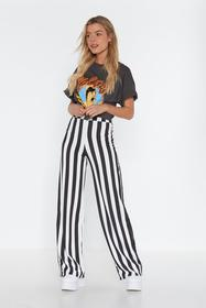 Nasty Gal Black Stripe Tease Oversized Pants