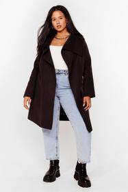 Nasty Gal Black Tailored to You Plus Longline Jack