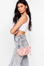 Nasty Gal Rose WANT A Real Slouch Ruched Crossbody