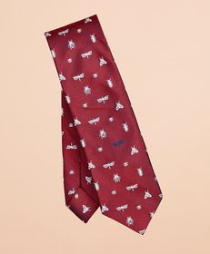 Brooks Brothers Printed Insect Silk Tie