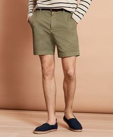 """Brooks Brothers Garment-Dyed Stretch Chino 7"""" Shor"""